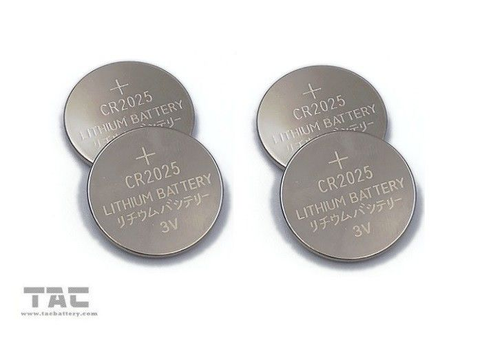 CR2025 3.0V 160mA Primary Lithium Coin Cell Battery for LED Light