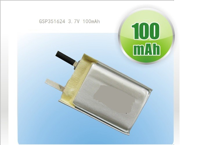 High Capacity LP052030 3.7V 260mAh Polymer Lithium Ion Batteries for Communicator